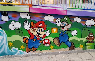 Retro videogame graffiti at The Mall Luton