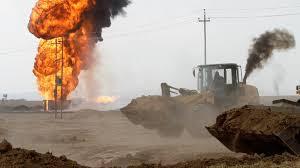 oil wells bombed in oilfield in northern Iraq's Kirkuk