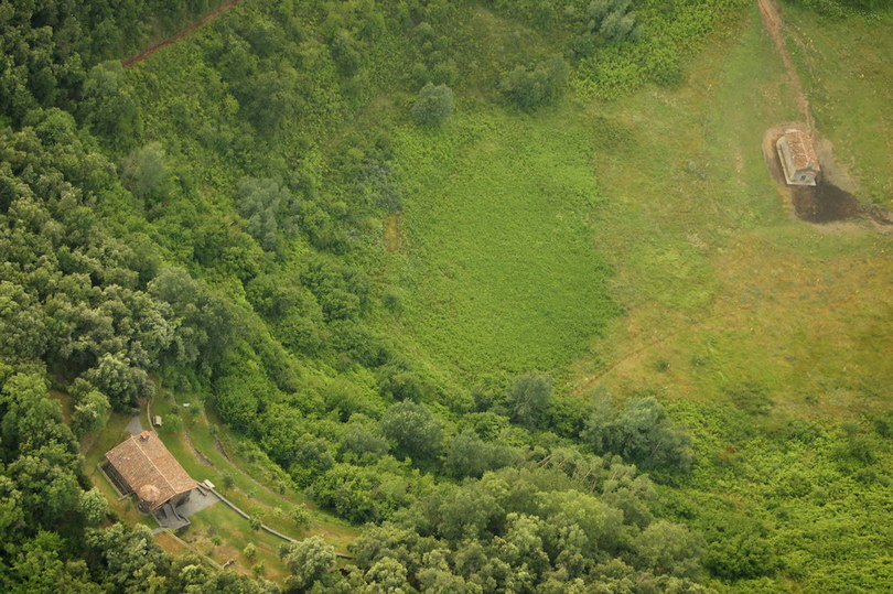 Aerial view of the Santa Margarita Volcano