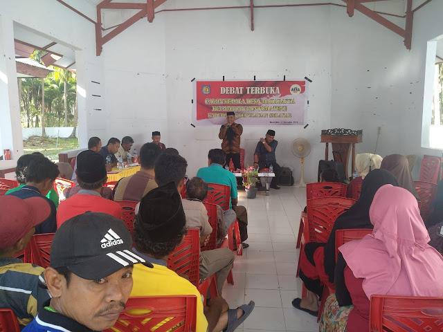 Debat Terbuka Cakades Maharayya, Kandidat Sampaikan Visi Misi Maju Pilkades