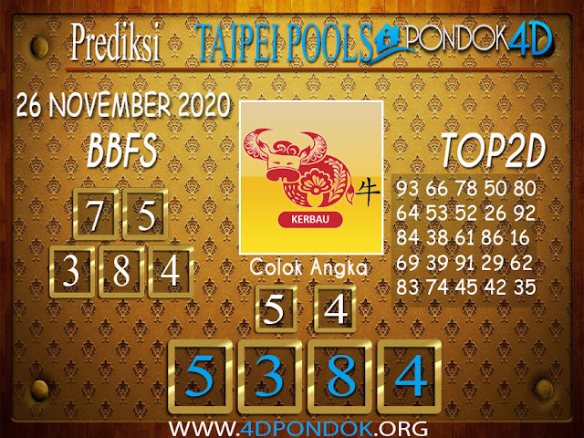 Prediksi Togel TAIPEI PONDOK4D 26 NOVEMBER 2020