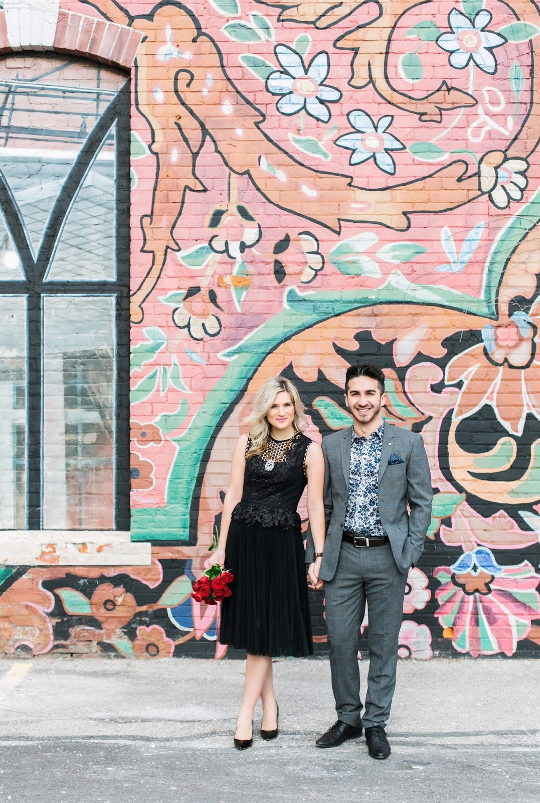 Bijuleni - Romantic Couple's Valentines Day Look with Ted Baker Suit and dress
