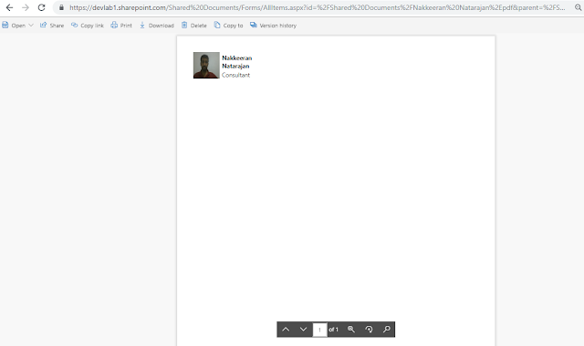 Generated document for user details captured via PowerApps and MS Flow