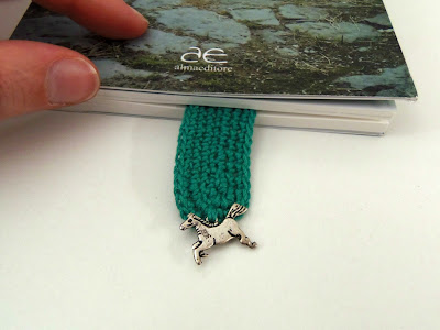 horse charm on handmade bookmark
