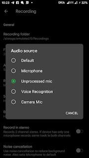 cara memilih sumber suara asr