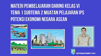 Materi IPS Kelas VI Tema 1 Subtema 2 - Potensi Ekonomi Negara ASEAN