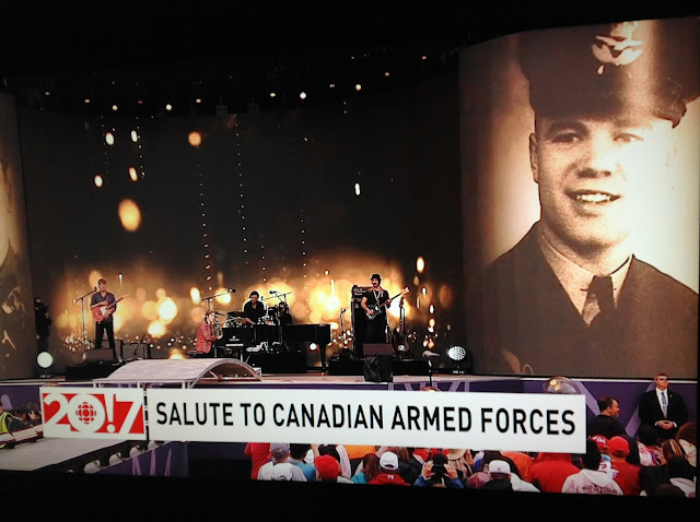 Screenshot CBC coverage Canada 150, Ottawa - Performance to honour our troops