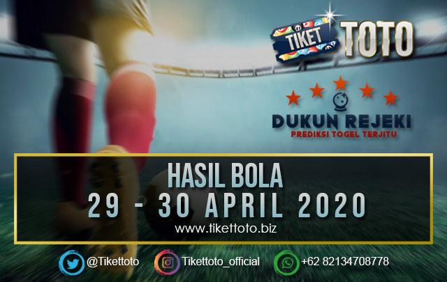 HASIL PERTANDINGAN BOLA 29 -30 APRIL 2020