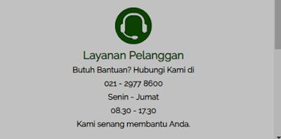 via panggilan untuk menelepon admin clipan finance pusat untuk cek atau informasi permasalahan