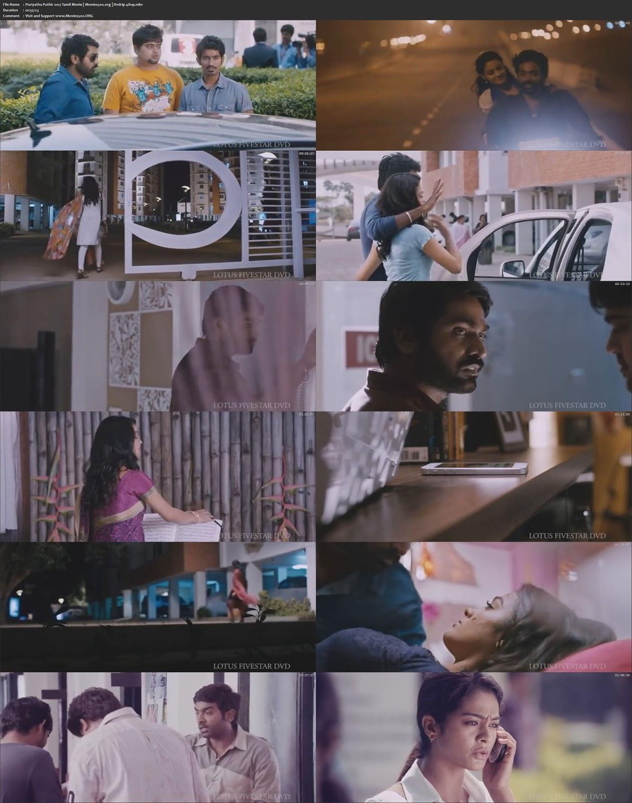Puriyaadha Pudhir 2017 Full Movie 300MB DVDRip 480p at movies500.site