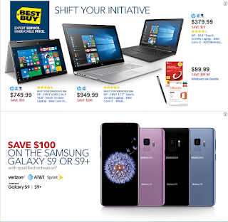 Best Buy Weekly Ad April 1 - 7, 2018 Save $100 on the Samsung Galaxy S9 or S9+