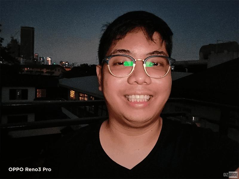 Reno 3 Pro lowlight selfie