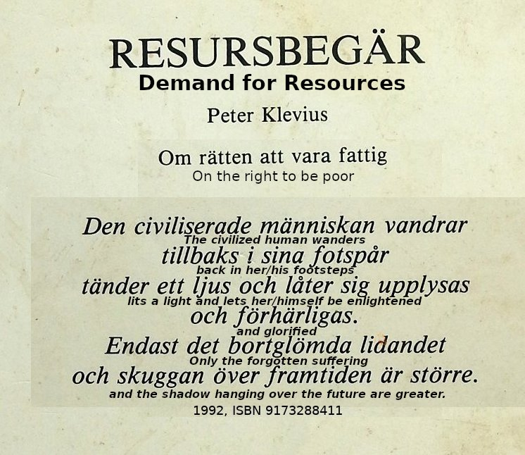 Demand for Resources