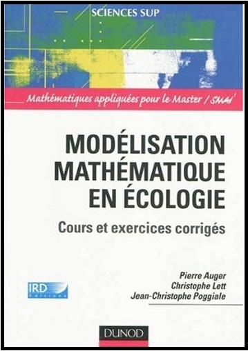 Livre : Modélisation mathématique en écologie - Cours et exercices corrigés PDF