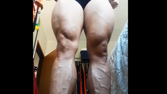 Video Muscular woman, lovely powerful lady rely (female bodybuilder)