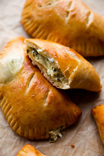 homemade spinach hot pockets