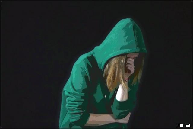 ảnh cô gái khóc trong đêm tối