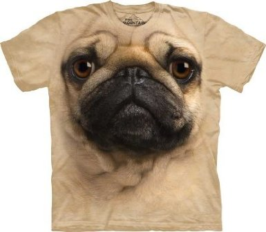 Dog face t-shirt-1