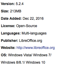 LibreOffice Free Download Latest Version 2017