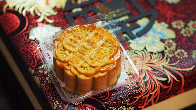 Baked Mooncake with Lotus Paste & Single Yolk