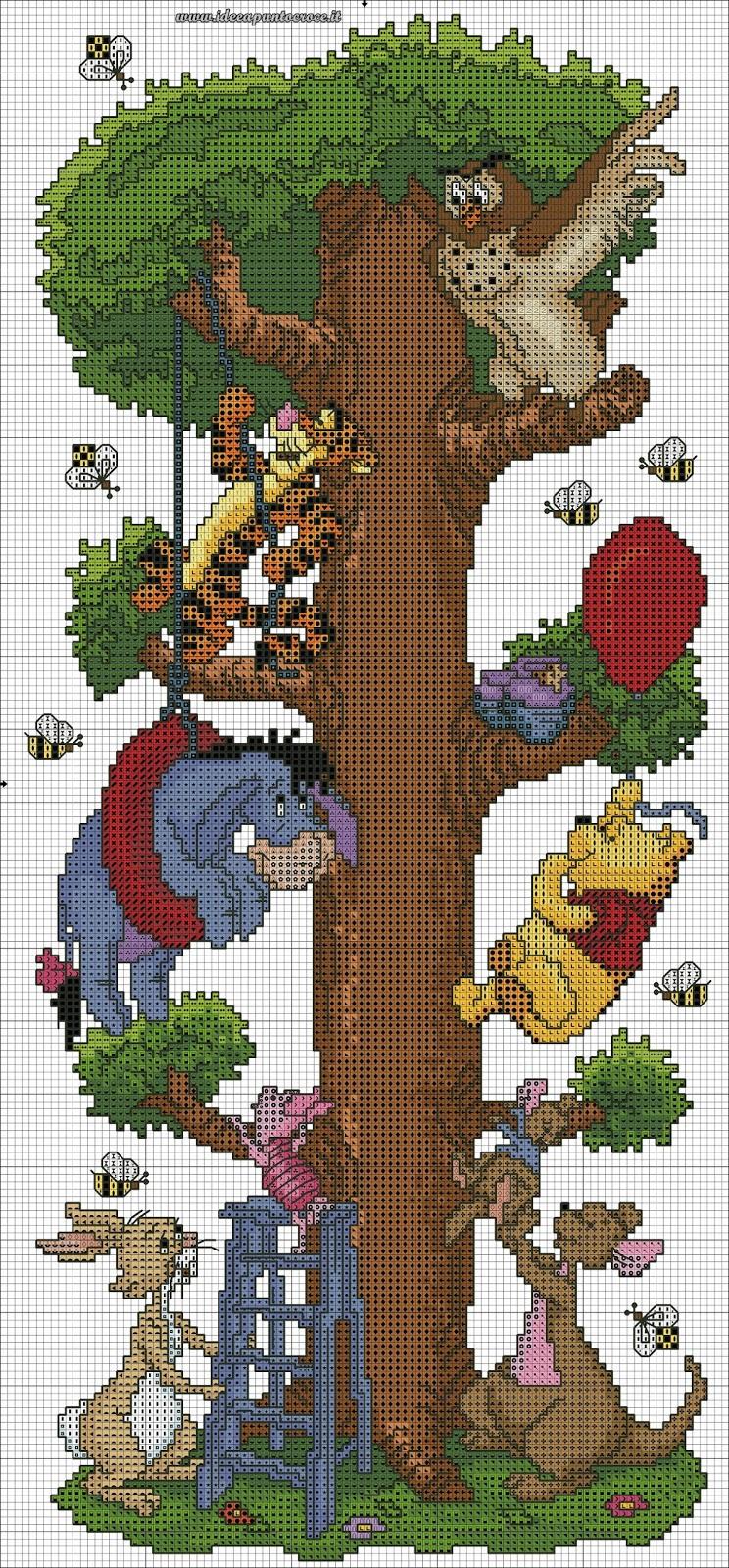 Schemi disney a punto croce schemi winnie the pooh for Winnie the pooh punto croce schemi