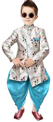 Tucute® Kids Ethnic Wear Cotton Blend Sherwani Style Kurta and Pyjama Set for Boys