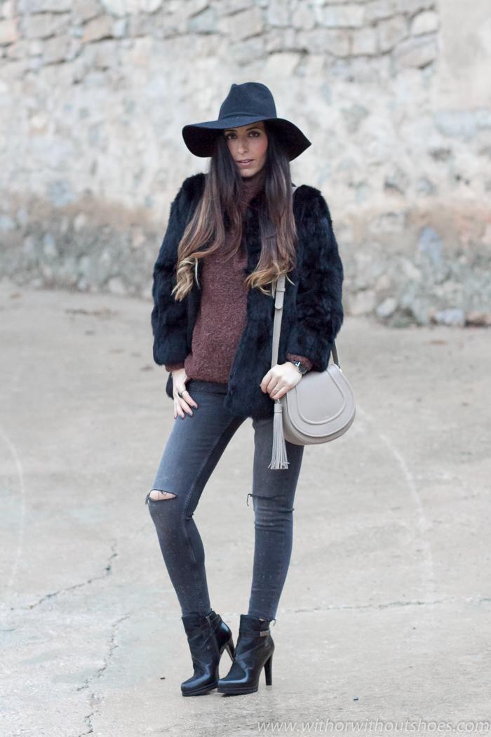 bloguera influencer con ideas de como vestir cuando hace frio y estar estilosa
