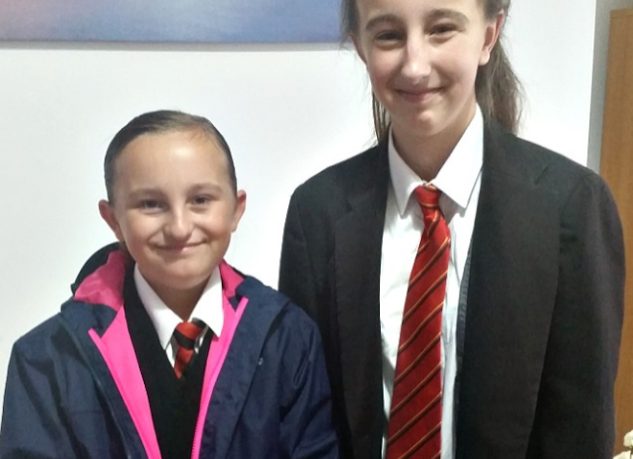 My two girls in their school uniform