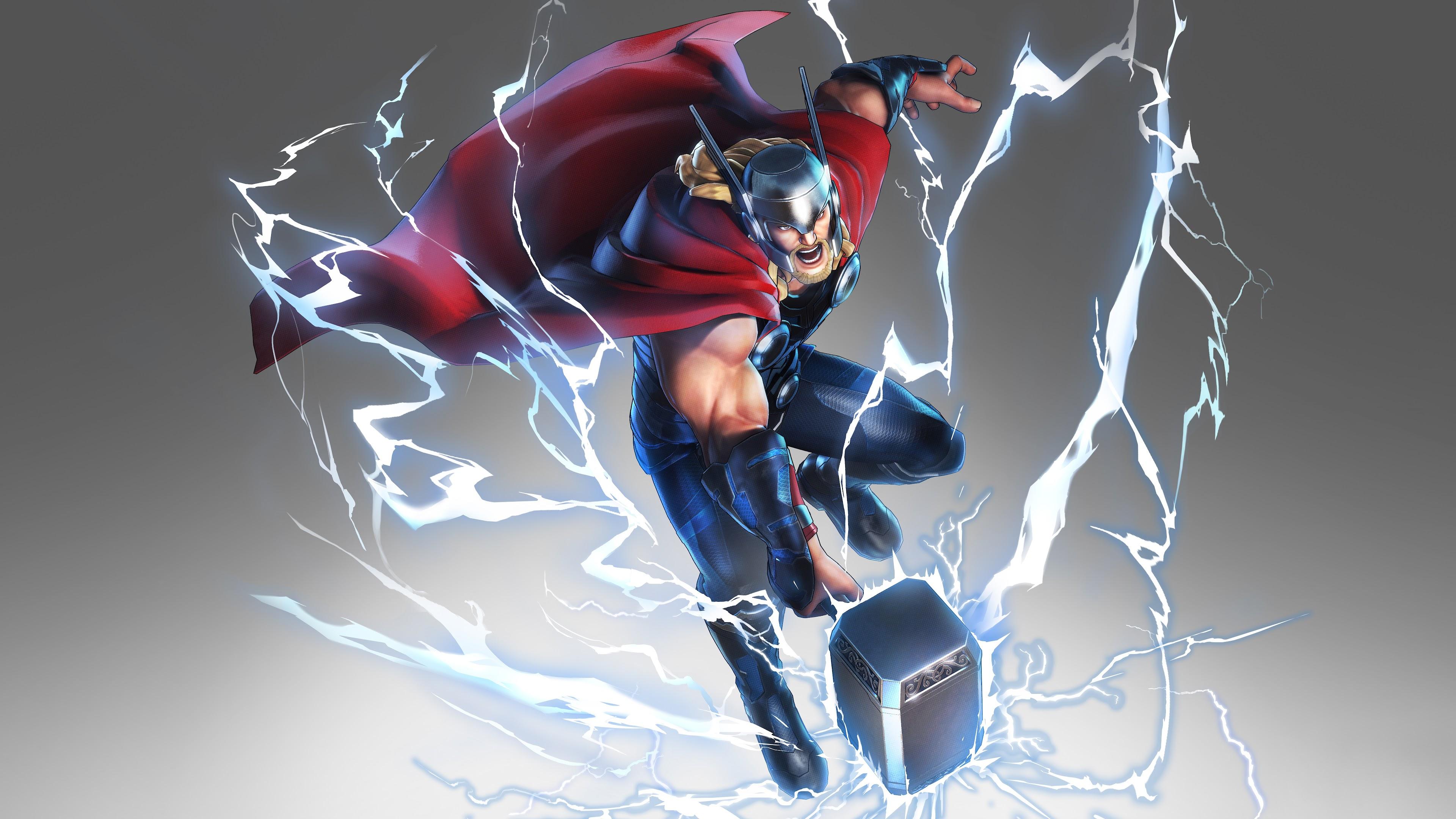 Thor Mjolnir Hammer Lightning Marvel Ultimate Alliance 3 8k