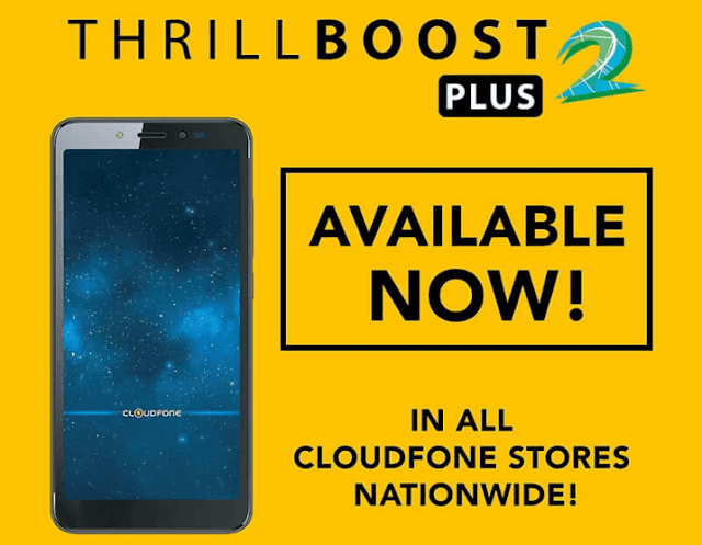 Cloudfone Thrill Boost 2 Plus now available for PHP 2,999.