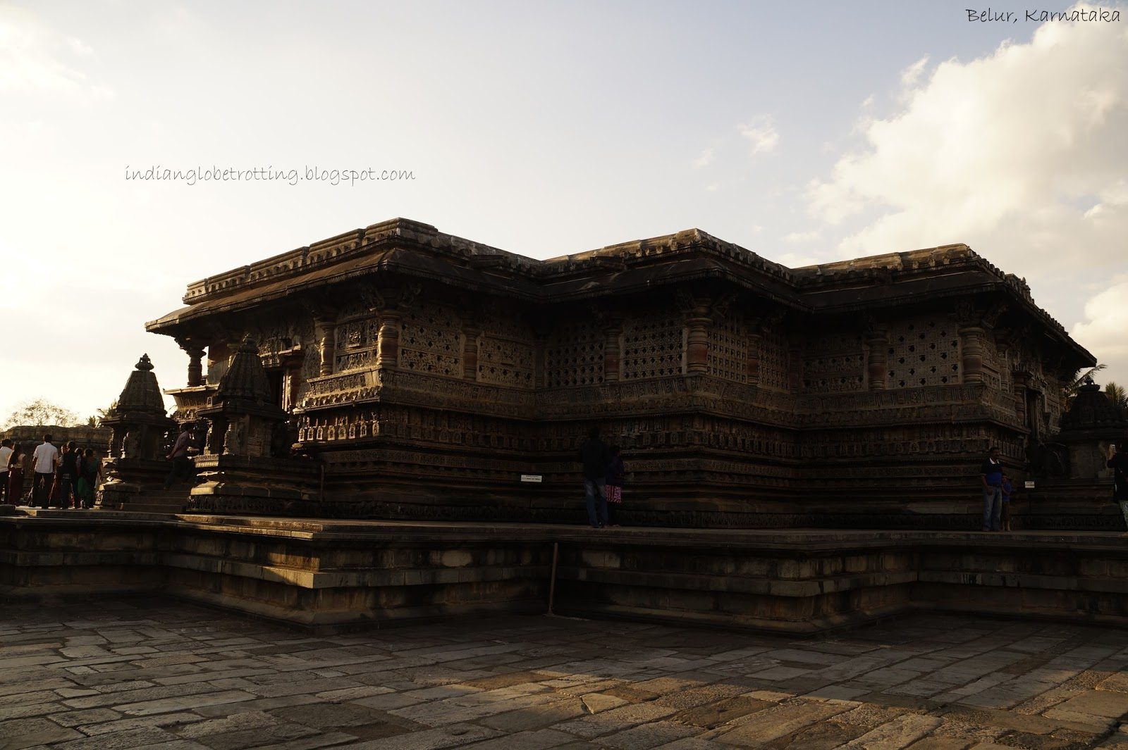 A full view of chennakeshava temple in belur
