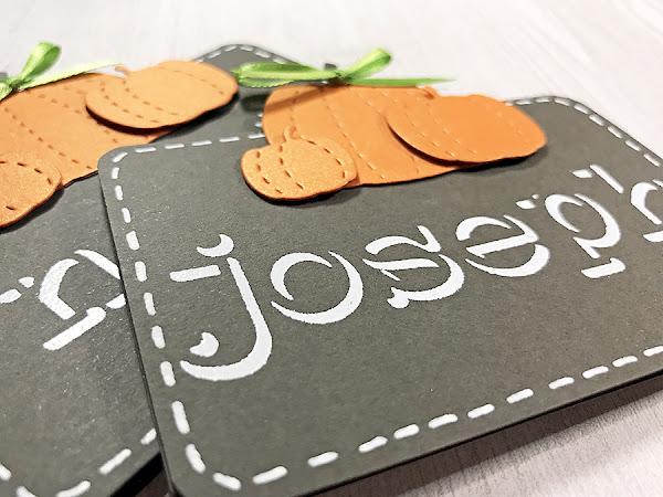 Pumpkin Placecards