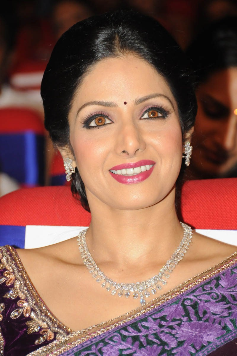 Sri Devi Latest Cute Photos In Colorful Blue Saree