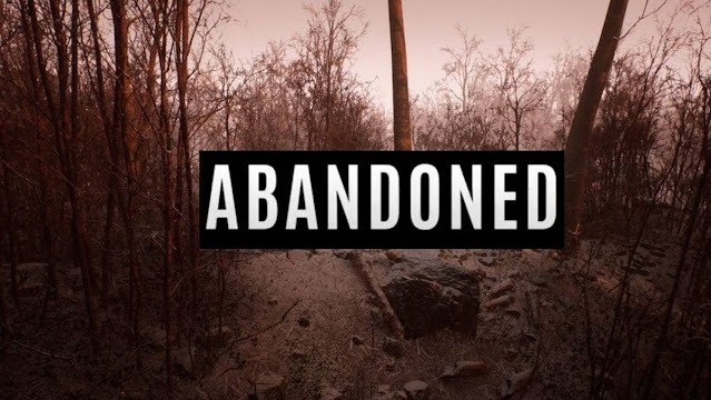 Splash screen for the game Abandoned