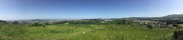 Panorama view from Western Craiglockhart Hill, Edinburgh