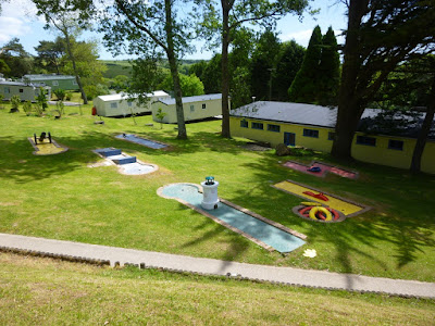 Crazy Golf course at Parkdean's Looe Bay Holiday Park in St Martins, Cornwall