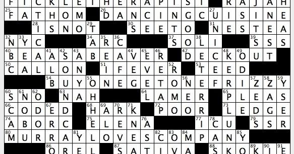 toronto star crossword