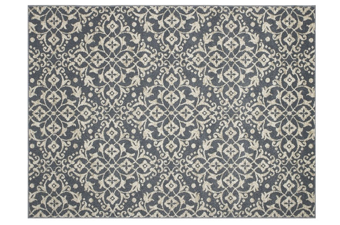 Blue and White Rug from Lowes | 20 Classic Style Rugs for Any Budget at www.andersonandgrant.com