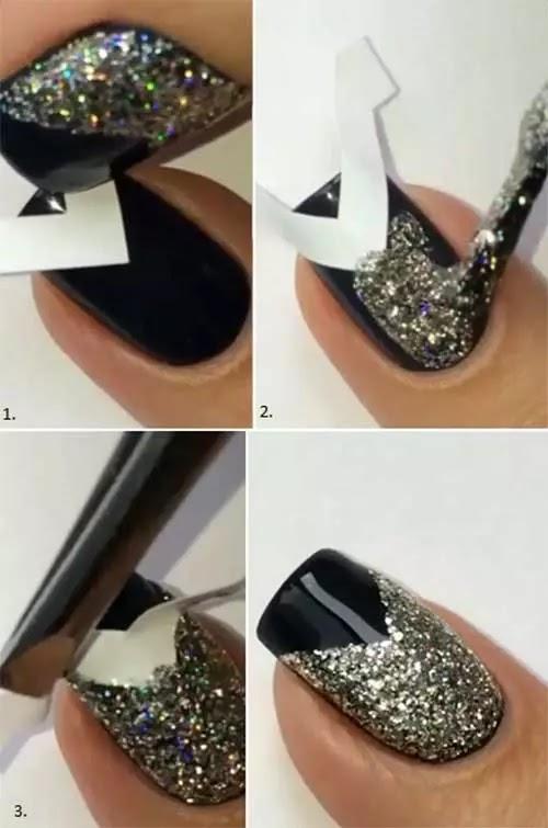 بريق V-Tip Nail Art تعليمي