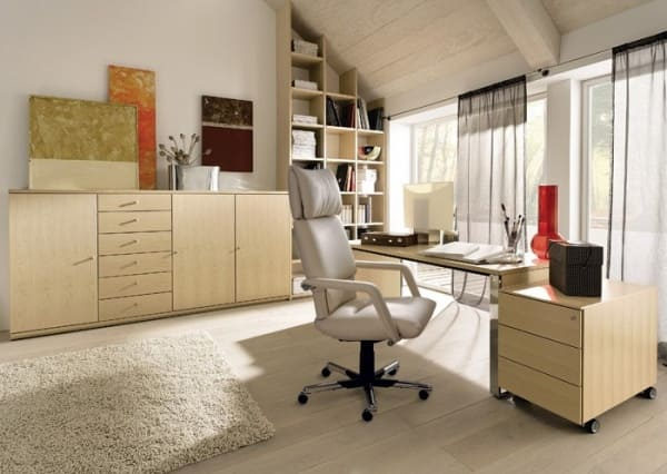 Decorated with modern offices large and small spaces