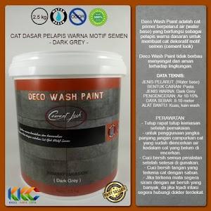 Cat Primer Wash Paint Motif Semen - Dark Grey - Kemasan 2.5 Kg