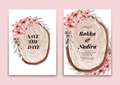 Download template undangan floral berwarna