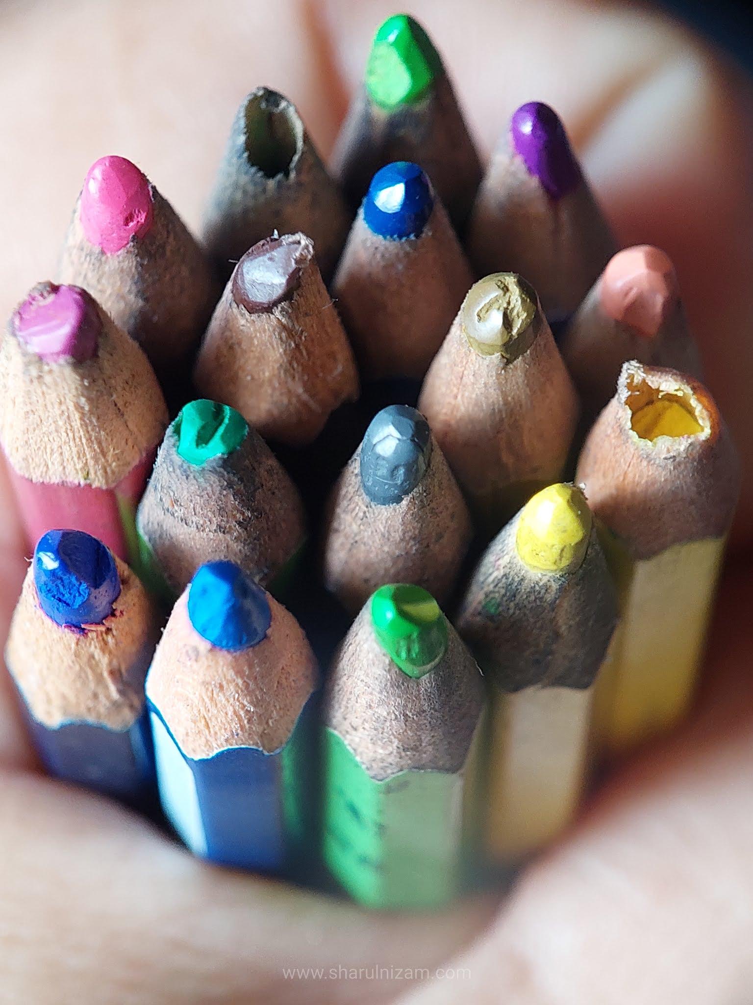 Mobile Macro Photography Menggunakan Pensil Warna (Samsung A52  & Lensbong Nikon 35mm)