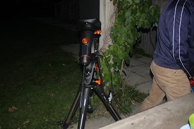 Celestron CGEM equatorial mount being tested - working