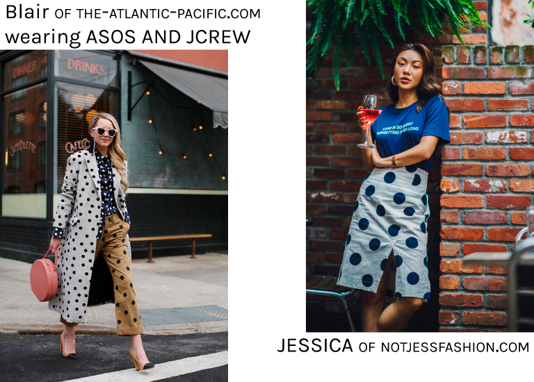 Bloggers wearing Polka Dots