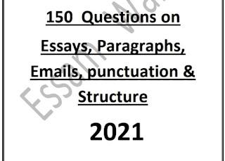 150 سؤال وجواب في المقال والبرجراف والايميل وعلامات الترقيم والتراكيب للثانوية العامة 2021