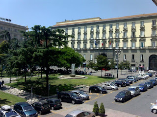 The City Hall of Naples overlooks Piazza Municipio