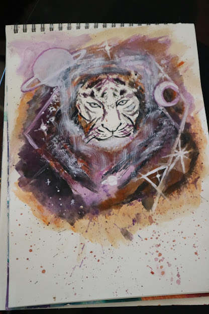 Tiger - one of Maya's latest art work.