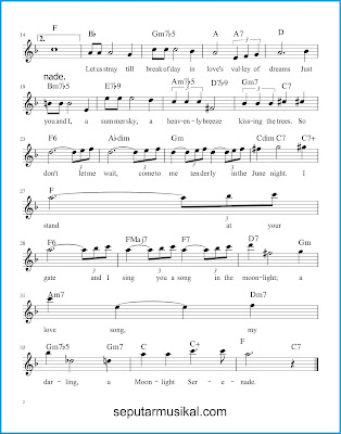 Moonlight Serenade 2 chords jazz standar