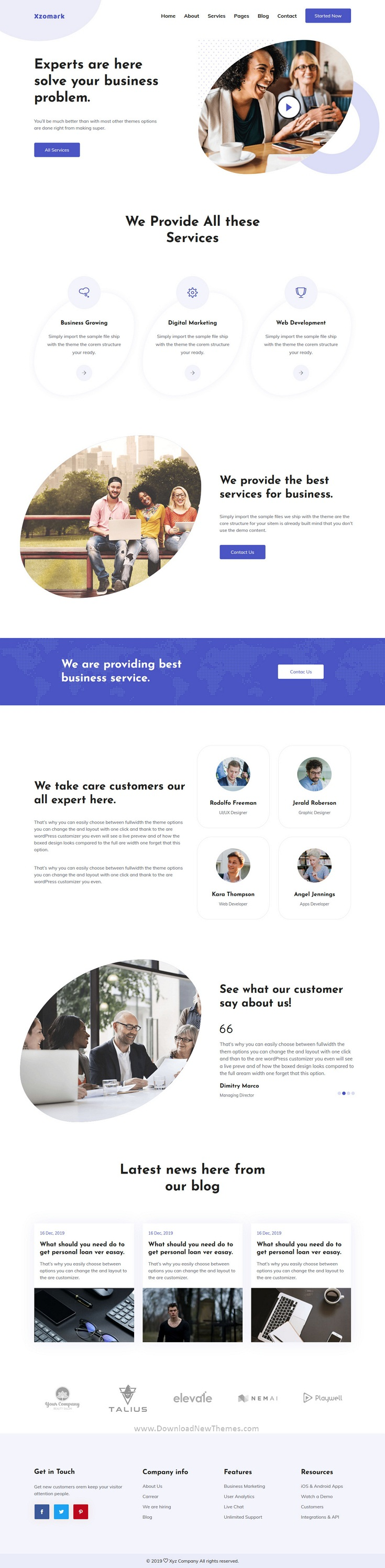 Corporate Business HTML Template